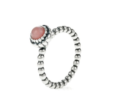 Pandora Silver Amp Pink Opal October Birthstone Ring