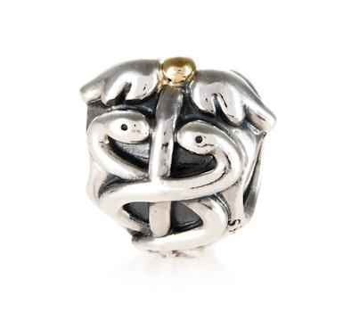pandora silver amp 14ct gold medicine charm 791042 john