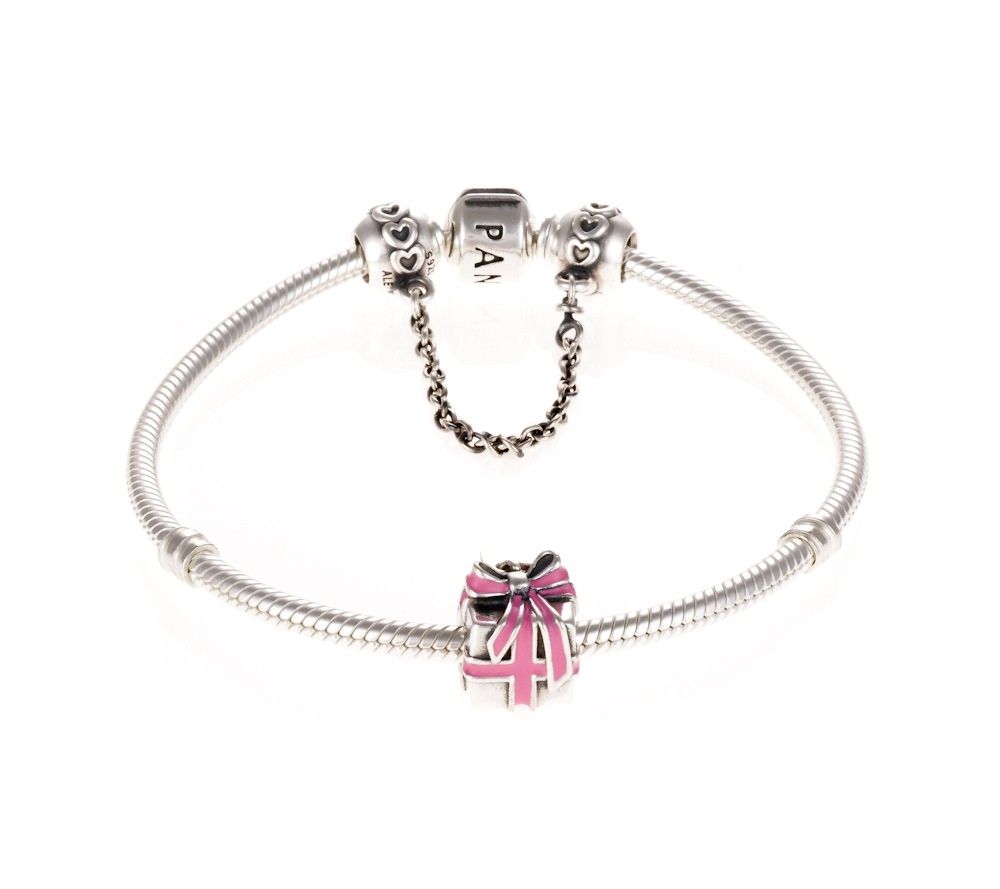 pandora my first pink enamel present bracelet b800017. Black Bedroom Furniture Sets. Home Design Ideas