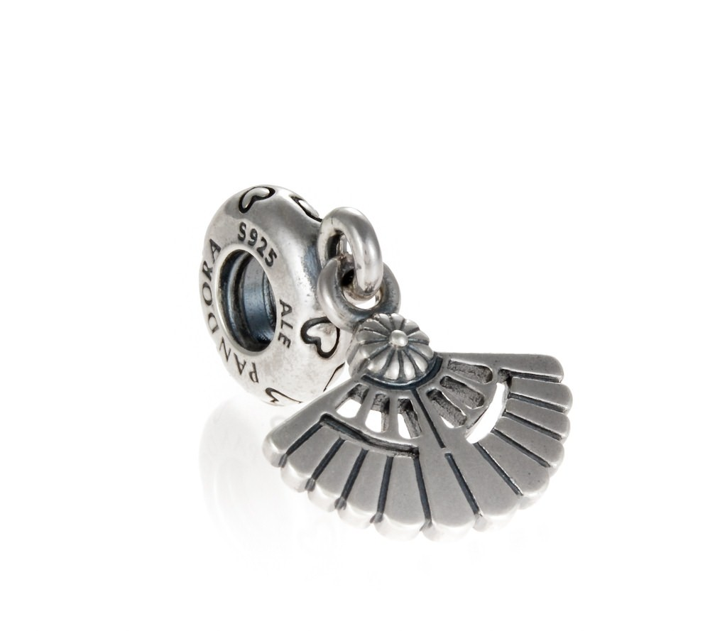 Pandora Silver Spanish Fan Dangle Charm 791110