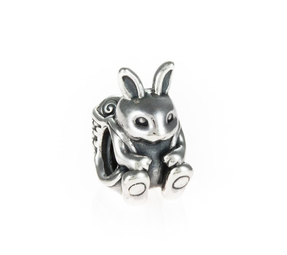 pandora silver bunny charm 791121 greed jewellery