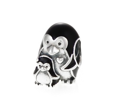pandora penguin family charm 791404en60 greed jewellery