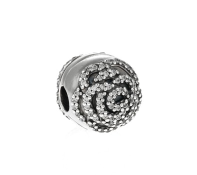 pandora charms clip rose