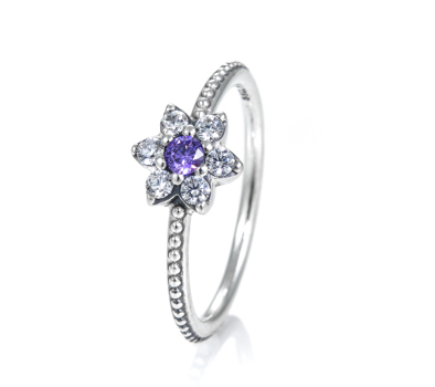 Pandora Forget Me Not Solitaire Ring 190990acz John