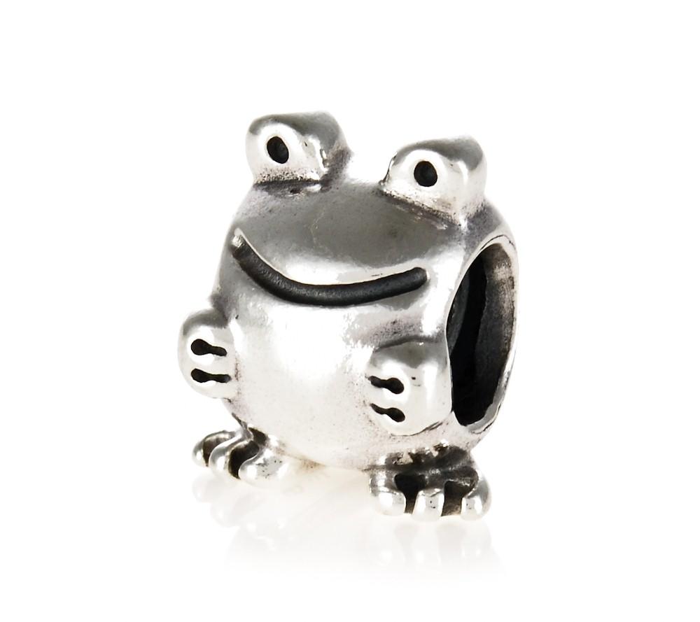 pandora silver frog charm 790247 greed jewellery