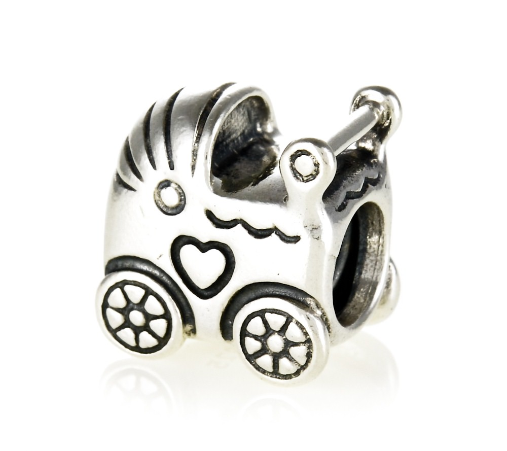 pandora silver pram charm 790346 greed jewellery