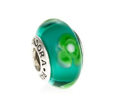 pandora green flower for you murano glass charm 790649 greed jewellery