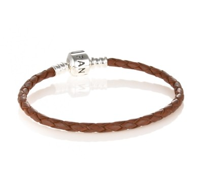 Pandora Red Single Braided Leather Bracelet
