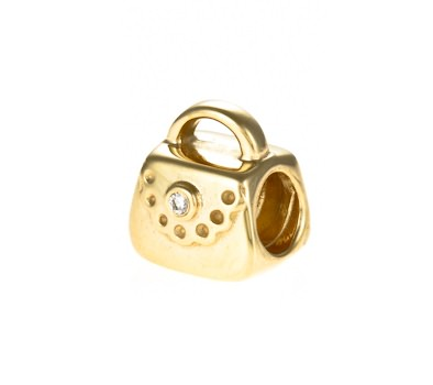pandora 14ct gold purse charm 750340d greed jewellery