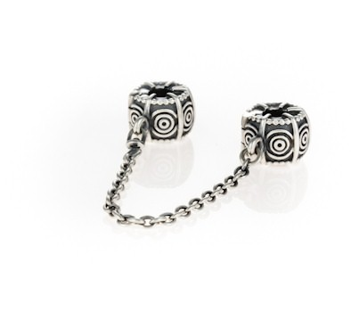 Pandora Silver Circle Safety Chain 790583 John Greed