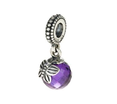 Pandora Silver Amp Purple Morning Butterfly Pendant Charm
