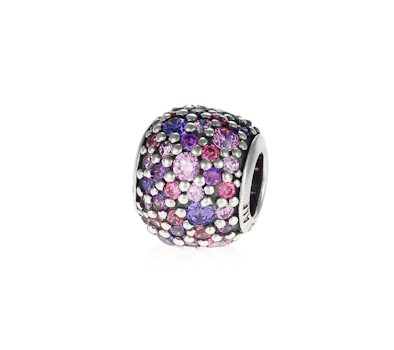 d1361ae1b PANDORA Silver and Pink Sparkles Pave Ball Charm 791261ACZMX.