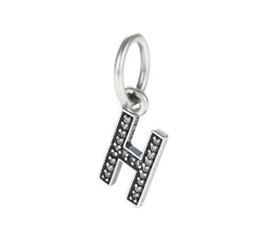 Pandora letter h pendant charm 791320cz john greed jewellery for Letter h pandora charm