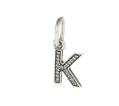 charms pandora letter k