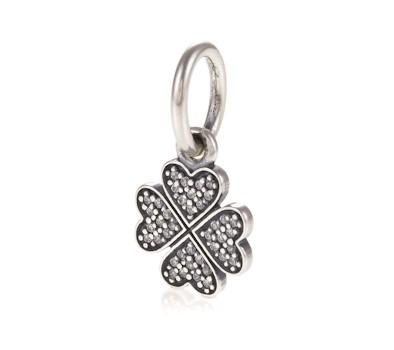 pandora sparkling lucky clover pendant charm 791309cz